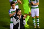 17 May 2019; Shamrock Rovers manager Stephen Bradley following the SSE Airtricity League Premier Division match between UCD and Shamrock Rovers at UCD Bowl in Dublin. Photo by Ramsey Cardy/Sportsfile