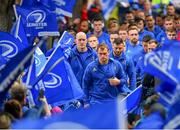 18 May 2019; Leinster captain Rhys Ruddock arrives ahead of the Guinness PRO14 semi-final match between Leinster and Munster at the RDS Arena in Dublin. Photo by Ramsey Cardy/Sportsfile