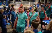 18 May 2019; Peter O'Mahony and Rory Scannell of Munster arrive prior to the Guinness PRO14 semi-final match between Leinster and Munster at the RDS Arena in Dublin. Photo by Diarmuid Greene/Sportsfile