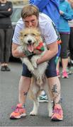 18 May 2019; Nicola Costello with her dog Odhran from Claremorris during the Clonbur Woods parkrun in partnership with Vhi at Clonbur Woods, Clonbur, Co. Galway. Parkrun Ireland in partnership with Vhi, added a new parkrun at Clonbur Woods on Saturday, 18th May, with the introduction of the Clonbur Woods parkrun in Clonbur, Co. Galway. Parkruns take place over a 5km course weekly, are free to enter and are open to all ages and abilities, providing a fun and safe environment to enjoy exercise. To register for a parkrun near you visit www.parkrun.ie. Photo by Ray Ryan/Sportsfile