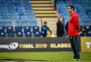 18 May 2019; Munster head coach Johann van Graan ahead of the Guinness PRO14 semi-final match between Leinster and Munster at the RDS Arena in Dublin. Photo by Ramsey Cardy/Sportsfile