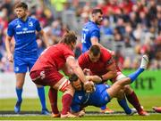 18 May 2019; Dave Kearney of Leinster is tackled by Arno Botha and CJ Stander of Munster during the Guinness PRO14 semi-final match between Leinster and Munster at the RDS Arena in Dublin. Photo by Harry Murphy/Sportsfile