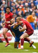 18 May 2019; Keith Earls of Munster is tackled by Dave Kearney of Leinster during the Guinness PRO14 semi-final match between Leinster and Munster at the RDS Arena in Dublin. Photo by Harry Murphy/Sportsfile