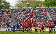 18 May 2019; Devin Toner of Leinster and Tadhg Beirne of Munster contest a line-out during the Guinness PRO14 semi-final match between Leinster and Munster at the RDS Arena in Dublin. Photo by Harry Murphy/Sportsfile