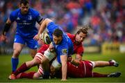 18 May 2019; Jack Conan of Leinster is tackled by Arno Botha of Munster during the Guinness PRO14 semi-final match between Leinster and Munster at the RDS Arena in Dublin. Photo by Ramsey Cardy/Sportsfile