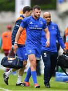 18 May 2019; Robbie Henshaw of Leinster leaves the pitch for a head injury assessment during the Guinness PRO14 semi-final match between Leinster and Munster at the RDS Arena in Dublin. Photo by Ramsey Cardy/Sportsfile