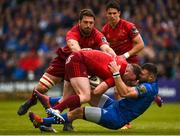 18 May 2019; Dave Kilcoyne of Munster is tackled by Robbie Henshaw of Leinster during the Guinness PRO14 semi-final match between Leinster and Munster at the RDS Arena in Dublin. Photo by Diarmuid Greene/Sportsfile