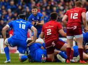 18 May 2019; Ross Byrne of Leinster during the Guinness PRO14 semi-final match between Leinster and Munster at the RDS Arena in Dublin. Photo by Ramsey Cardy/Sportsfile