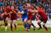 18 May 2019; Jordan Larmour of Leinster is tackled by CJ Stander of Munster during the Guinness PRO14 semi-final match between Leinster and Munster at the RDS Arena in Dublin. Photo by Ramsey Cardy/Sportsfile