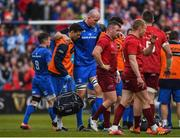 18 May 2019; Devin Toner of Leinster leaves the field injured during the Guinness PRO14 semi-final match between Leinster and Munster at the RDS Arena in Dublin. Photo by Harry Murphy/Sportsfile
