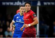 18 May 2019; Joey Carbery of Munster and Jonathan Sexton of Leinster during the Guinness PRO14 semi-final match between Leinster and Munster at the RDS Arena in Dublin. Photo by Harry Murphy/Sportsfile