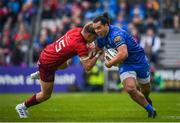 18 May 2019; James Lowe of Leinster is tackled by Mike Haley of Munster during the Guinness PRO14 semi-final match between Leinster and Munster at the RDS Arena in Dublin. Photo by Harry Murphy/Sportsfile