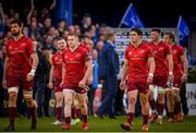 18 May 2019; Joey Carbery of Munster and team-mates react following the Guinness PRO14 semi-final match between Leinster and Munster at the RDS Arena in Dublin. Photo by Harry Murphy/Sportsfile