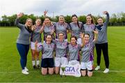 18 May 2019; AIB celebrate after beating PWC in the Cup final at the LGFA Interfirms Blitz 2019 at Naomh Mearnóg GAA Club, Portmarnock, Dublin. This year 12 teams competed for the top prize, while 11 teams signed up to take part in a recreational blitz. Photo by Piaras Ó Mídheach/Sportsfile