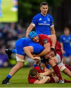 18 May 2019; Liam O'Connor, below, and Tadhg Beirne of Munster in action against Jack Conan of Leinster during the Guinness PRO14 semi-final match between Leinster and Munster at the RDS Arena in Dublin. Photo by Ramsey Cardy/Sportsfile