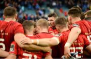 18 May 2019; Munster captain Peter O'Mahony speaks to his team-mates after as they huddle together after the Guinness PRO14 semi-final match between Leinster and Munster at the RDS Arena in Dublin. Photo by Diarmuid Greene/Sportsfile