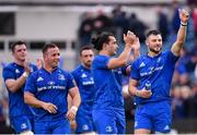 18 May 2019; Robbie Henshaw of Leinster, right, shows his appreciation to fans following the Guinness PRO14 semi-final match between Leinster and Munster at the RDS Arena in Dublin. Photo by Harry Murphy/Sportsfile