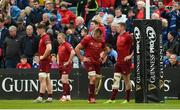 18 May 2019; Munster players Jack O'Donoghue, Keith Earls, CJ Stander, and Chris Farrell react after conceding their side's second try during the Guinness PRO14 semi-final match between Leinster and Munster at the RDS Arena in Dublin. Photo by Diarmuid Greene/Sportsfile