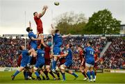 18 May 2019; Peter O'Mahony of Munster wins possession in a lineout ahead of Scott Fardy of Leinster during the Guinness PRO14 semi-final match between Leinster and Munster at the RDS Arena in Dublin. Photo by Diarmuid Greene/Sportsfile