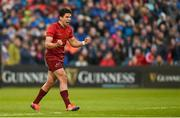 18 May 2019; Joey Carbery of Munster celebrates after his side won a turnover during the Guinness PRO14 semi-final match between Leinster and Munster at the RDS Arena in Dublin. Photo by Diarmuid Greene/Sportsfile
