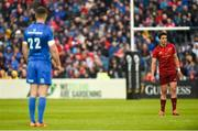 18 May 2019; Joey Carbery of Munster, right, and Jonathan Sexton of Leinster during the Guinness PRO14 semi-final match between Leinster and Munster at the RDS Arena in Dublin. Photo by Diarmuid Greene/Sportsfile