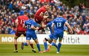18 May 2019; Mike Haley of Munster in action against Robbie Henshaw of Leinster during the Guinness PRO14 semi-final match between Leinster and Munster at the RDS Arena in Dublin. Photo by Diarmuid Greene/Sportsfile
