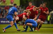 18 May 2019; Mike Haley of Munster is tackled by Ross Byrne of Leinster during the Guinness PRO14 semi-final match between Leinster and Munster at the RDS Arena in Dublin. Photo by Diarmuid Greene/Sportsfile