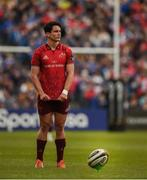 18 May 2019; Joey Carbery of Munster prepares to kick a penalty during the Guinness PRO14 semi-final match between Leinster and Munster at the RDS Arena in Dublin. Photo by Diarmuid Greene/Sportsfile
