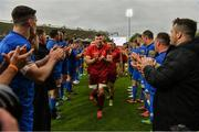 18 May 2019; Peter O'Mahony of Munster and his team-mates are applauded off the field by Leinster players after the Guinness PRO14 semi-final match between Leinster and Munster at the RDS Arena in Dublin. Photo by Diarmuid Greene/Sportsfile