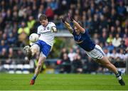 18 May 2019; Conor McManus of Monaghan in action against Padraig Faulkner of Cavan during the Ulster GAA Football Senior Championship quarter-final match between Cavan and Monaghan at Kingspan Breffni in Cavan. Photo by Daire Brennan/Sportsfile