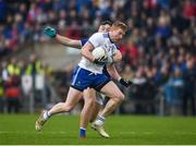 18 May 2019; Kieran Hughes of Monaghan in action against Conor Brady of Cavan during the Ulster GAA Football Senior Championship quarter-final match between Cavan and Monaghan at Kingspan Breffni in Cavan. Photo by Daire Brennan/Sportsfile