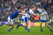 18 May 2019; Paudie McKenna of Monaghan in action against Gerard Smith of Cavan during the Ulster GAA Football Senior Championship quarter-final match between Cavan and Monaghan at Kingspan Breffni in Cavan. Photo by Daire Brennan/Sportsfile