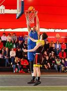 18 May 2019;  Martin Provizors of DCU Saints in action against Calum Sourke of IT Carlow Basketball during the second annual Hula Hoops 3x3 Basketball Championships at Bray Seafront in Co.Wicklow. Photo by Ray McManus/Sportsfile