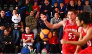 18 May 2019; Players and supporters watch a game during the second annual Hula Hoops 3x3 Basketball Championships at Bray Seafront in Co.Wicklow. Photo by Ray McManus/Sportsfile