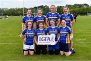 18 May 2019; The St Kevin's Community College, Dunlavin, Co Wicklow, team at the LGFA Interfirms Blitz 2019 at Naomh Mearnóg GAA Club, Portmarnock, Dublin. This year 12 teams competed for the top prize, while 11 teams signed up to take part in a recreational blitz. Photo by Piaras Ó Mídheach/Sportsfile