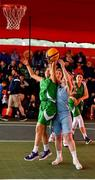 18 May 2019; Ciara Bracken of Liffey Celtics Basketball Club in action against Aisling Sullivan of DCU Mercy Basketball Club  during a semi-final at the second annual Hula Hoops 3x3 Basketball Championships at Bray Seafront in Co.Wicklow. Photo by Ray McManus/Sportsfile