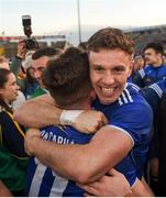 18 May 2019; Dara McVeety, left, and Conor Madden of Cavan celebrate after the Ulster GAA Football Senior Championship quarter-final match between Cavan and Monaghan at Kingspan Breffni in Cavan. Photo by Daire Brennan/Sportsfile