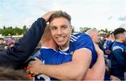 18 May 2019; Conor Madden and Cian Mackey of Cavan celebrate after the Ulster GAA Football Senior Championship quarter-final match between Cavan and Monaghan at Kingspan Breffni in Cavan. Photo by Oliver McVeigh/Sportsfile