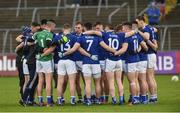 18 May 2019; The Cavan pre match huddle before the Ulster GAA Football Senior Championship quarter-final match between Cavan and Monaghan at Kingspan Breffni in Cavan. Photo by Oliver McVeigh/Sportsfile