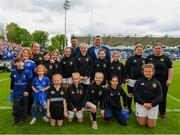 18 May 2019; The Longford team with Leinster players Jack McGrath and Fergus McFadden ahead of the Bank of Ireland Half-Time Minis at the Guinness PRO14 semi-final match between Leinster and Munster at the RDS Arena in Dublin. Photo by Ramsey Cardy/Sportsfile