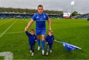 18 May 2019; Seán Cronin of Leinster with his sons Finn and Cillian following the Guinness PRO14 semi-final match between Leinster and Munster at the RDS Arena in Dublin. Photo by Ramsey Cardy/Sportsfile