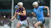 19 May 2019; Paudie Foley of Wexford in action against Shane Barrett of Dublin during the Leinster GAA Hurling Senior Championship Round 2 match between Dublin and Wexford at Parnell Park in Dublin. Photo by Daire Brennan/Sportsfile