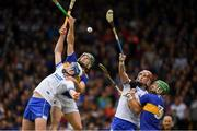 19 May 2019; Stephen Bennett and Maurice Shanahan of Waterford  in action against Cathal Barrett and James Barry of Tipperary  during the Munster GAA Hurling Senior Championship Round 2 match between Tipperary and Waterford at Semple Stadium, Thurles in Tipperary. Photo by Ray McManus/Sportsfile