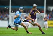 19 May 2019; Jack O'Connor of Wexford in action against Chris Crummey of Dublin during the Leinster GAA Hurling Senior Championship Round 2 match between Dublin and Wexford at Parnell Park in Dublin. Photo by Daire Brennan/Sportsfile