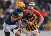 19 May 2019; Brian Tracey of Carlow in action against Bill Sheehan of Kilkenny during the Leinster GAA Hurling Senior Championship Round 2 match between Carlow and Kilkenny at Netwatch Cullen Park in Carlow. Photo by Ben McShane/Sportsfile