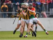 19 May 2019; John Donnelly of Kilkenny in action against Richard Coady of Carlow during the Leinster GAA Hurling Senior Championship Round 2 match between Carlow and Kilkenny at Netwatch Cullen Park in Carlow. Photo by Ben McShane/Sportsfile