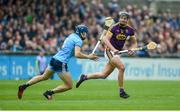 19 May 2019; Jack O'Connor of Wexford in action against Eoghan O'Donnell of Dublin during the Leinster GAA Hurling Senior Championship Round 2 match between Dublin and Wexford at Parnell Park in Dublin. Photo by Daire Brennan/Sportsfile