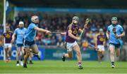 19 May 2019; Aidan Nolan of Wexford in action against Paddy Smyth of Dublin during the Leinster GAA Hurling Senior Championship Round 2 match between Dublin and Wexford at Parnell Park in Dublin. Photo by Daire Brennan/Sportsfile