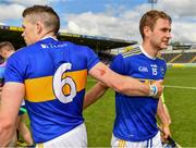 19 May 2019; Padraic Maher, left, and John McGrath of Tipperary after the Munster GAA Hurling Senior Championship Round 2 match between Tipperary and Waterford at Semple Stadium, Thurles in Tipperary. Photo by Ray McManus/Sportsfile