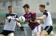 19 May 2019; Ian Burke of Galway in action against Paul Kilcoyne and Keelan Cawley of Sligo during the Connacht GAA Football Senior Championship semi-final match between Sligo and Galway at Markievicz Park in Sligo. Photo by Harry Murphy/Sportsfile